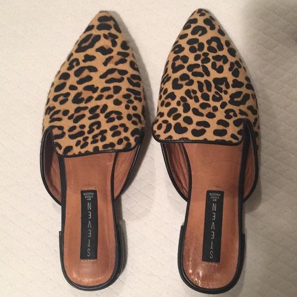 ad01e0e3357 Steven by Steve Madden leopard valent mules size 9